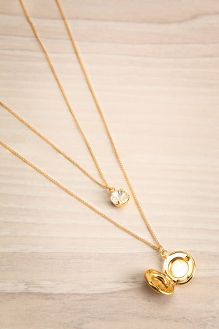 Margaret Sullavan Crystal & Locket Pendant Necklace | Boutique 1861 4