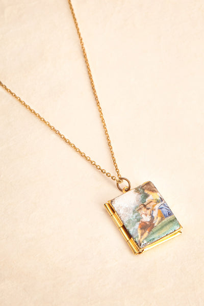 Marie de Coucy ~ Vintage Square Locket Necklace | Boudoir 1861 1