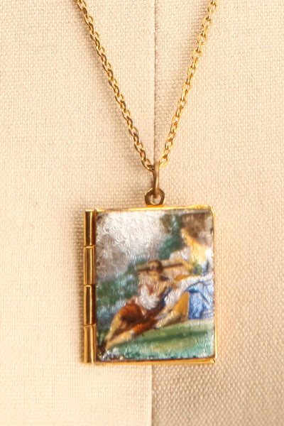 Marie de Coucy ~ Vintage Square Locket Necklace | Boudoir 1861 4