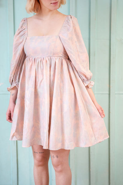 Marinna Pastel Pink Short Babydoll Dress | Boutique 1861 model
