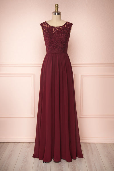 Marnie Burgundy | Lace Gown