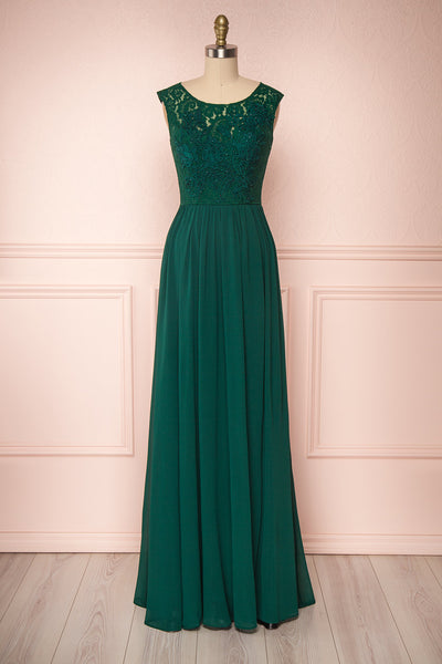 Marnie Emerald Green Lace Gown | Robe Longue | Boudoir 1861