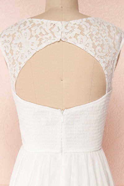 Marnie Ivory White Lace Gown | Robe Longue back close up | Boudoir 1861