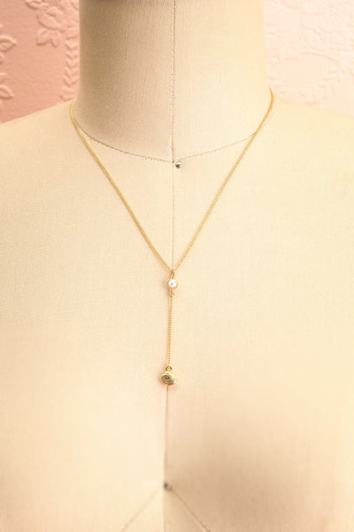 Mary Nolan Dainty Golden Pendant Necklace with Pearl | Boutique 1861 3