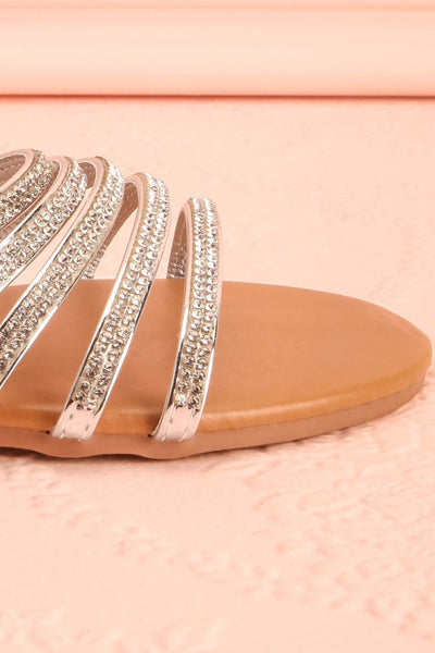 Mégisserie Beige & Silver Crystal Sandals | Boutique 1861 7