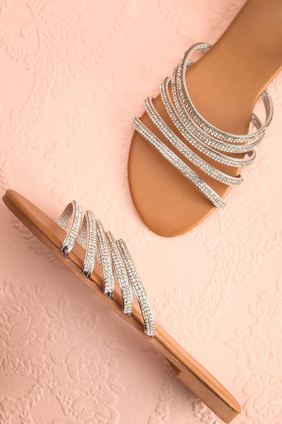 Mégisserie Beige & Silver Crystal Sandals | Boutique 1861 1