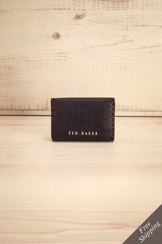 Melvaig Noir - Black leather wallet
