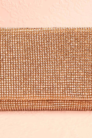Meryt Rose Gold Crystal Clutch | Sac à Main | Boutique 1861 front close-up