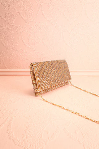 Meryt Rose Gold Crystal Clutch | Sac à Main | Boutique 1861 side view
