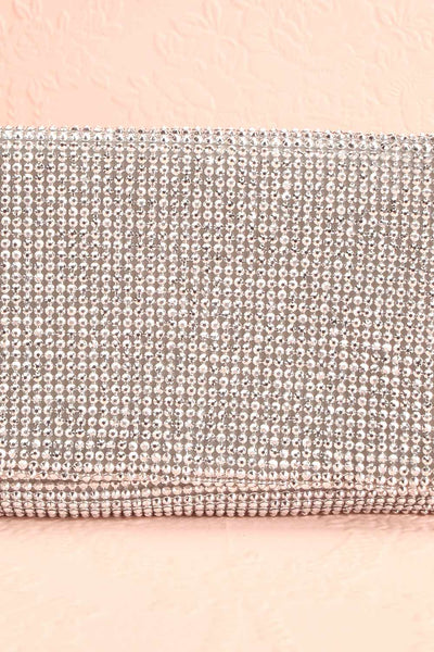 Meryt Silver Crystal Clutch | Sac à Main | Boutique 1861 front close-up