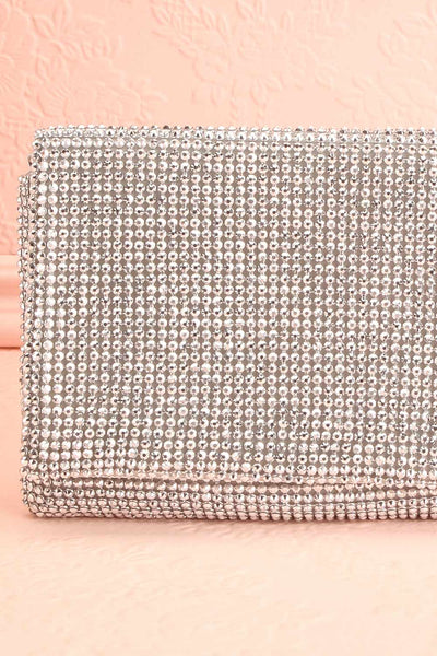 Meryt Silver Crystal Clutch | Sac à Main | Boutique 1861 close-up