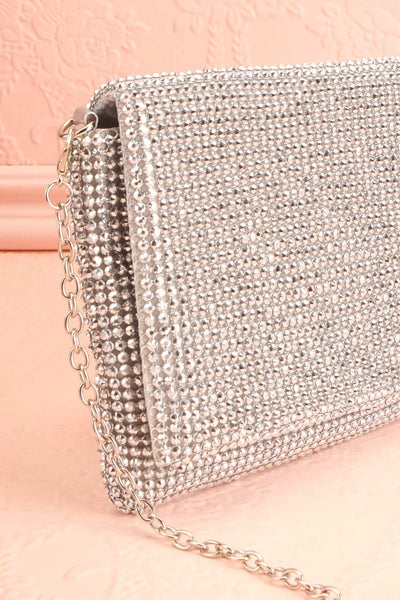 Meryt Silver Crystal Clutch | Sac à Main | Boutique 1861 side close-up