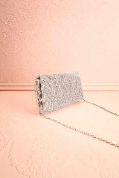 Meryt Silver Crystal Clutch | Sac à Main | Boutique 1861 side view