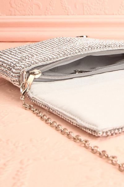 Meryt Silver Crystal Clutch | Sac à Main | Boutique 1861 inside close-up