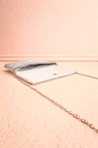 Meryt Silver Crystal Clutch | Sac à Main | Boutique 1861 inside view