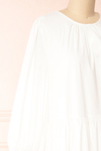 Mikki Ivory Wide Layered Long Sleeve Dress | Boutique 1861 side close-up