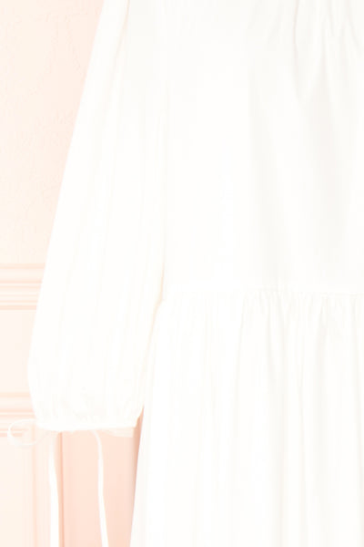 Mikki Ivory Wide Layered Long Sleeve Dress | Boutique 1861 sleeve