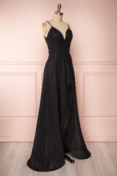 Minjee Black Maxi Dress | Robe Longue | Boutique 1861 side view