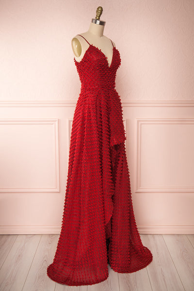 Minjee Red Maxi Dress | Robe Longue | Boutique 1861 side view