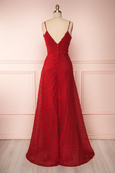 Minjee Red Maxi Dress | Robe Longue | Boutique 1861 back view