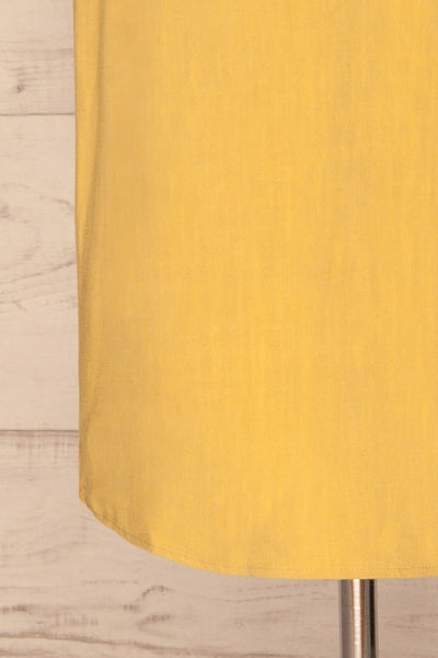 Mirandela Yellow Linen Midi Dress | La petite garçonne bottom