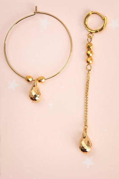 Miroslava Stern Golden Asymmetrical Pendant Earrings | Boutique 1861 1