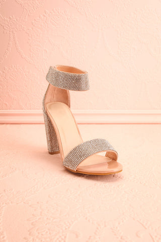Momoka Crystal Studded Heels | Talons | Boutique 1861 front view