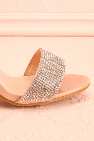 Momoka Crystal Studded Heels | Talons | Boutique 1861 side front close-up