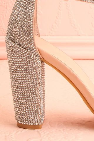 Momoka Crystal Studded Heels | Talons | Boutique 1861 side close-up