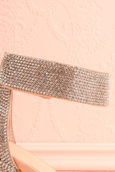 Momoka Crystal Studded Heels | Talons | Boutique 1861 strap close-up