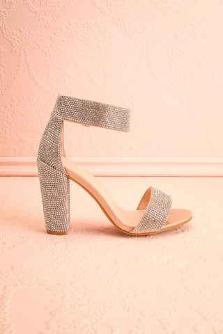 Momoka Crystal Studded Heels | Talons | Boutique 1861 side view