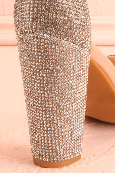 Momoka Crystal Studded Heels | Talons | Boutique 1861 back close-up