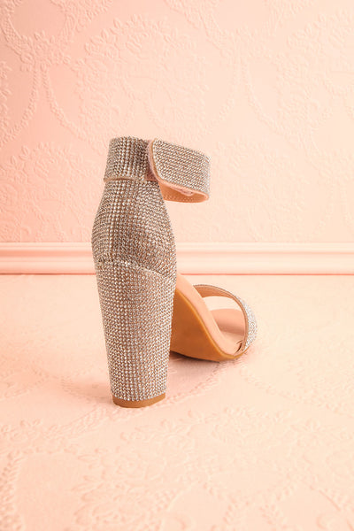 Momoka Crystal Studded Heels | Talons | Boutique 1861 back view