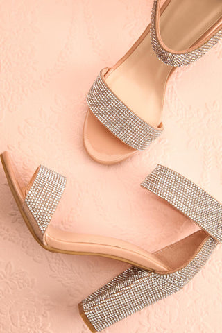 Momoka Crystal Studded Heels | Talons | Boutique 1861 flat view