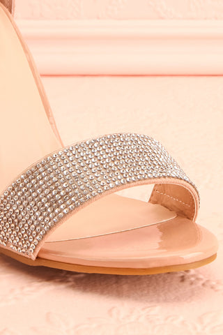 Momoka Crystal Studded Heels | Talons | Boutique 1861 front close-up