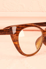 Monarch Wood - Wood effect cat-eye frame glasses
