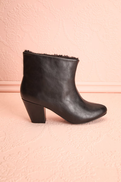 Montesquieu Black Faux Fur Lined Ankle Boots | Boutique 1861 5