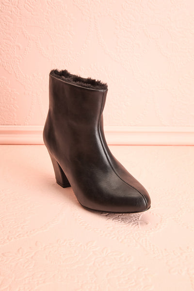 Montesquieu Black Faux Fur Lined Ankle Boots | Boutique 1861 3