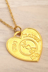 Mustus Gold Heart-Shaped Pendant Necklace | La Petite Garçonne Chpt. 2