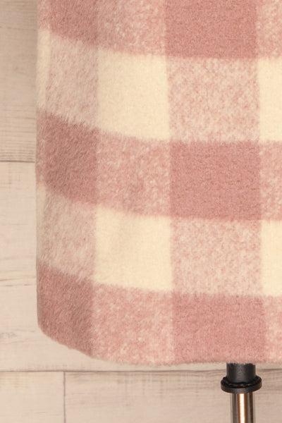 Myslowice White & Pink Long Plaid Coat | La petite garçonne bottom