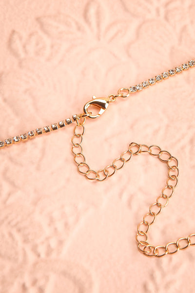 Nadia Gold Sparkling Necklace | Boutique 1861 closure