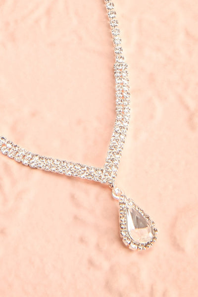 Nadia Silver Sparkling Necklace | Boutique 1861 flat close-up