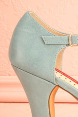 Nausori - Light blue peep-toe shoes