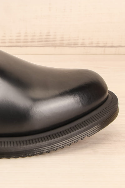 Newburgh Black Dr. Martens Chelsea Boots side front close-up | La Petite Garçonne