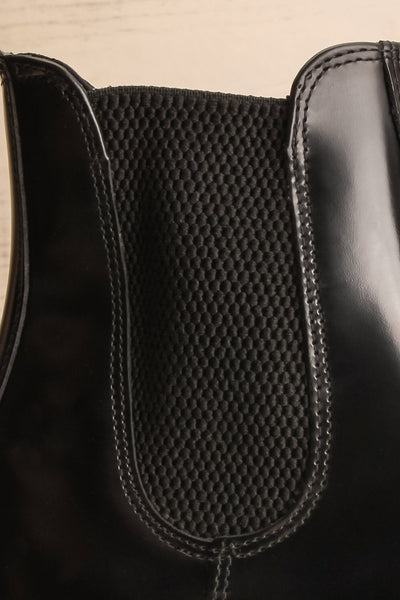 Newburgh Black Dr. Martens Chelsea Boots side close-up | La Petite Garçonne