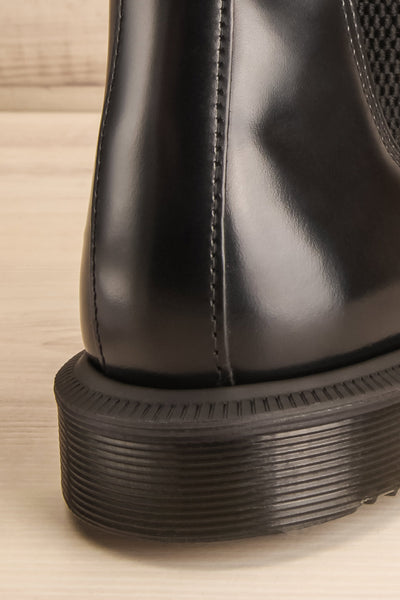Newburgh Black Dr. Martens Chelsea Boots back close-up | La Petite Garçonne
