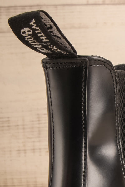 Newburgh Black Dr. Martens Chelsea Boots logo close-up | La Petite Garçonne