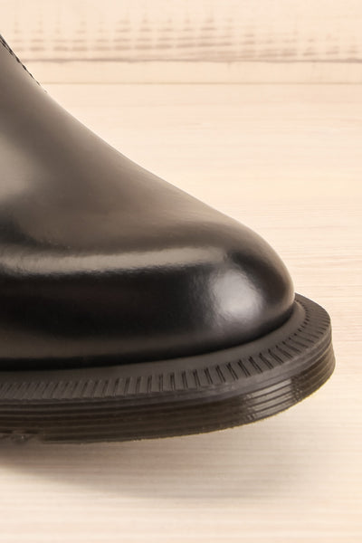 Newburgh Black Dr. Martens Chelsea Boots front close-up | La Petite Garçonne