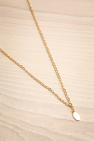 Nika Gold Pendant Necklace | Collier | La Petite Garçonne flat view