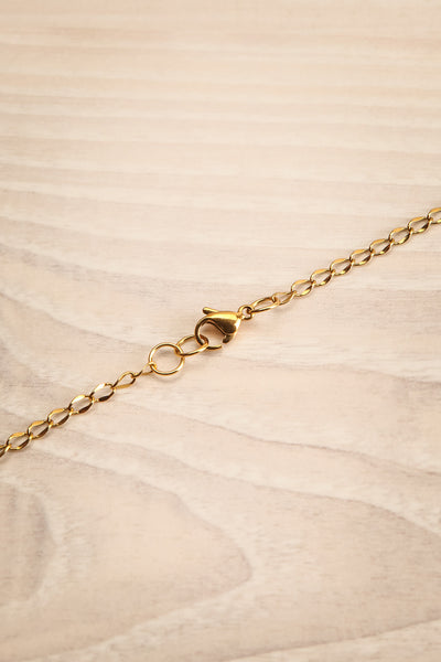 Nika Gold Pendant Necklace | Collier | La Petite Garçonne closure